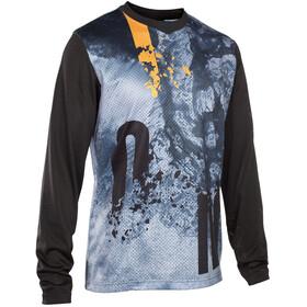 ION Scrub Fietsshirt lange mouwen Heren blauw/zwart